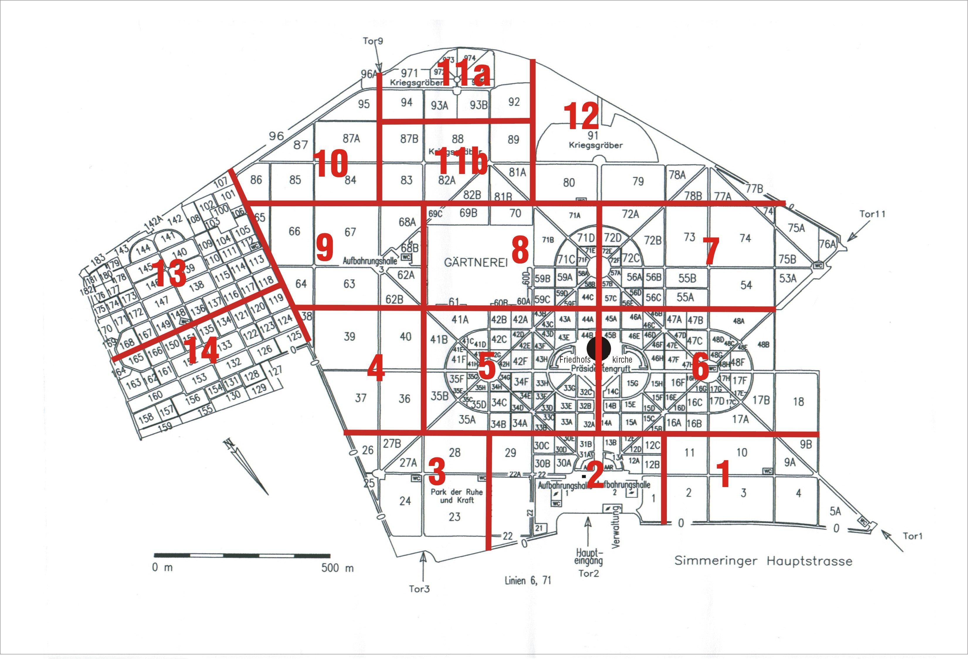 Cemetery Maps Vienna Central Cemetery Friedhöfe Wien